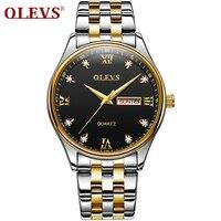OLEVS Relógios dos homens Top Marca de Luxo Homens Esportes Relógio Luminoso Relógio de Quartzo relogio masculino de Aço Relógio de Pulso À Prova D' Água 2018