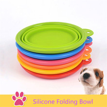Silicone Folding Pet Dog Puppy Cat Food or Drink Water Bowl Dish Hot Sale Pet Dog Cat Bowl