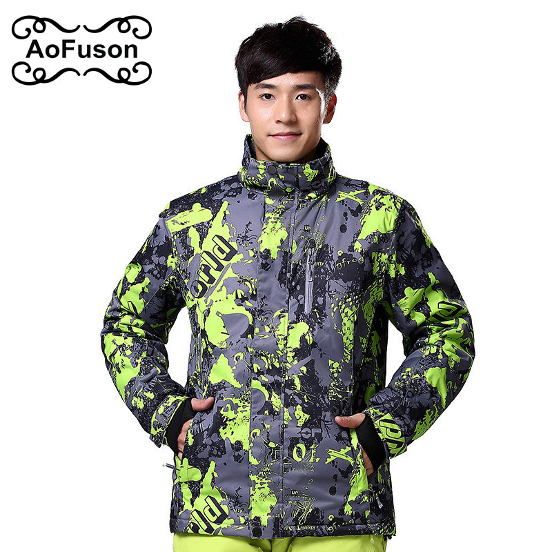 купить 2016 New Skiing Jacket Men Warm Wateproof Snow Jacket For Skiing Snowboarding Hiking Jackets Male Winter Snow Outdoor Coats недорого