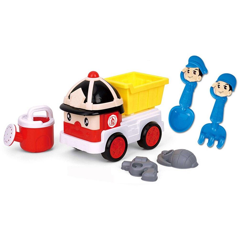 Nouveau été enfants plage seau râteaux pêche voiture Net jouer eau jouets jouer sable voiture ensemble jouer sable bébé en plein air drôle jouets