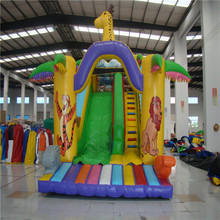 customized inflatable slide bouncer with blower YLW-174 inflatable playground cartoon toys