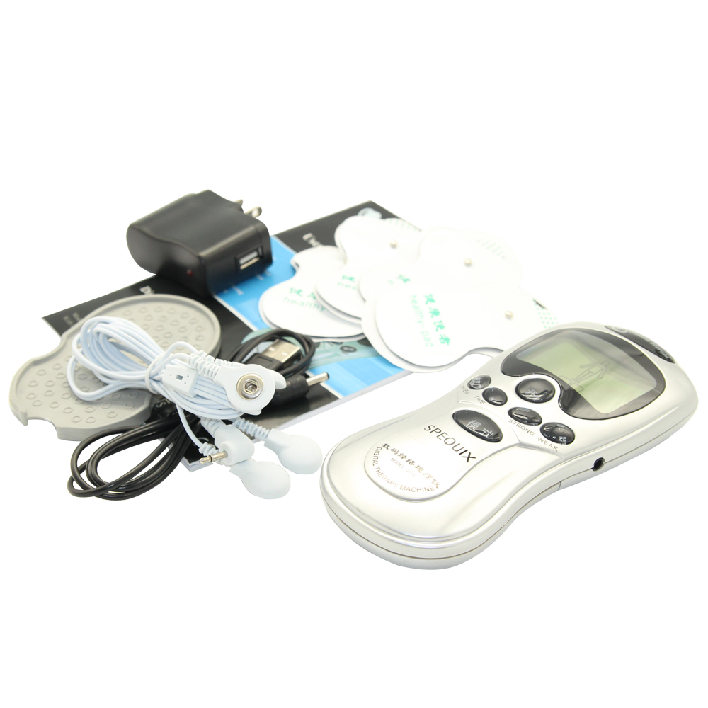 Hot selling 4 Electrode Tens Acupuncture Electric Therapy Massageador Machine Pulse Body Slimming Sculptor Massager Apparatus 4 electrode health care tens acupuncture electric therapy massageador machine pulse body slimmming sculptor massager apparatus