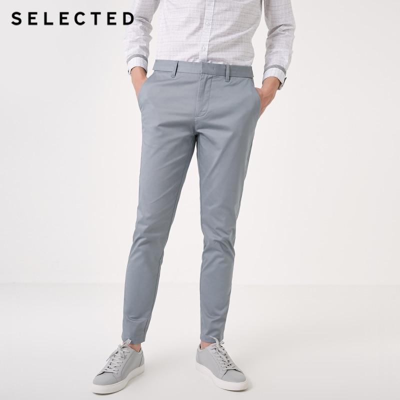 SELECTED Spring New Men's Slim Micro-elastic Cotton Casual Pants S|419114517