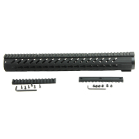 Super light Tactical 16.5 Inch AR15 KeyMod Handguard Mount Rail Carbon Fiber Glass Fiber Polymer Robust