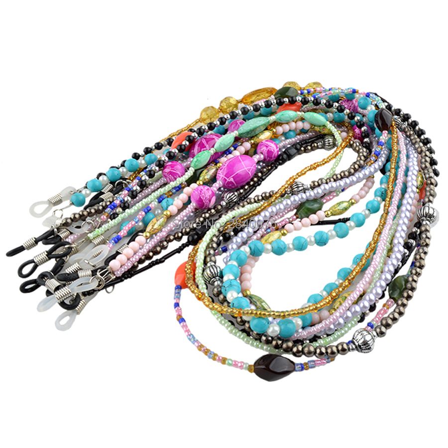 Glass Beads Glasses Sunglasses Spectacles Chain Cord Holder Various Style Option