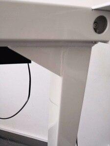 Image 5 - [Ab ücretsiz kdv] Flip iki ayak üç bölüm elektrikli Motor kaldırma masa kaldırma sütun mobil masa katlanır escritorio siyah/beyaz
