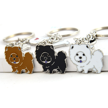 Key-Chains Chow Chow Best-Friend Bag Charms Pendant Gifts Women Cute Animal for Pet-Dog