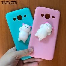 Squishy Slow Rising Cat Soft TPU Case For Samsung Galaxy J3 2016 J310 Cover For Fundas Samsung J7 2016 J710 Skin Cute Phone Case
