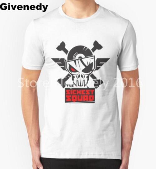 The Sickest Squad B&W Logo Mens & Womens Summer Cotton Short Sleeve T Shirt