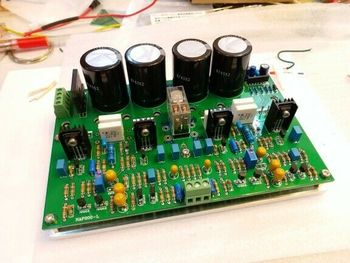 DIYERZONE Assembeld Hifi Power Amp Board Base On NAP200 ( With Aluminum Plate) L14-18