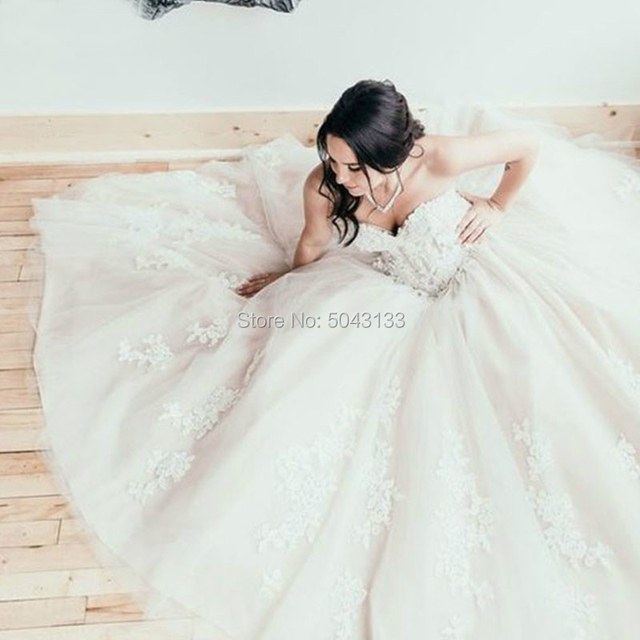 Boho Corset Sweetheart Appliques Wedding Dresses Off the Shoulder Lace Up Bridal Gowns Formal Champagne Tulle Vestido De Noiva 3