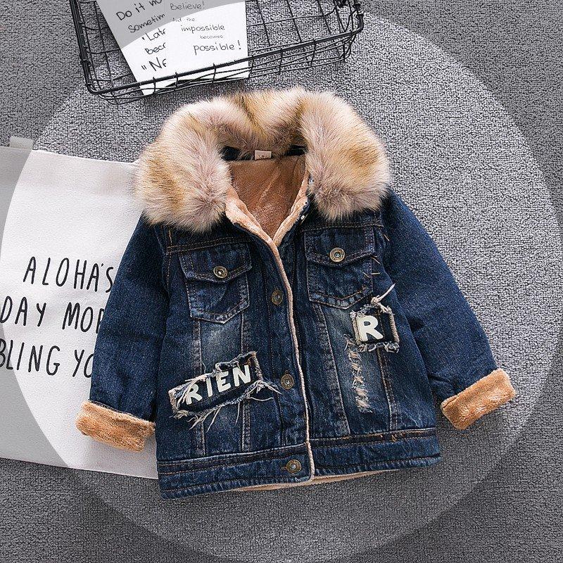 Baby Boys Denim Jacket Vintage Jeans Jackets for Boy Toddler Baby Denim Jackets Boys Jean Jacket notch lapel faded wash denim jacket