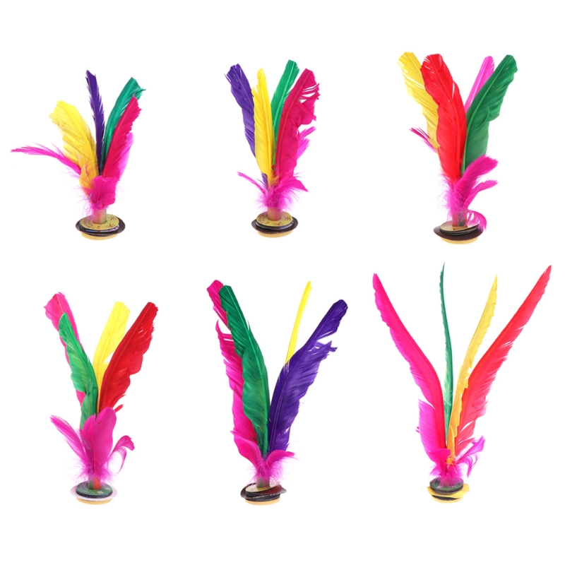 China Jianzi Footbal Foot Kick Handwheel Fancy Goose Feather Shuttlecock Fitness W315