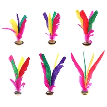 China Jianzi Footbal Foot Kick Handwheel Fancy Goose Feather Shuttlecock Fitness W315(China)