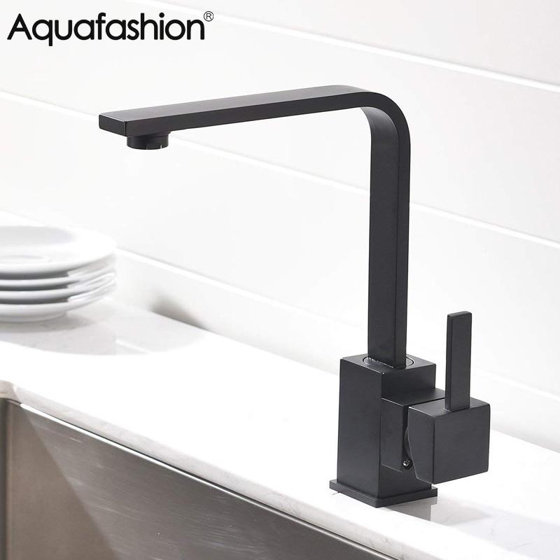 Brass Kitchen Sink Faucet 360 Degree Swivel Kitchen Tap Black Kitchen Mixer Tap Torneira