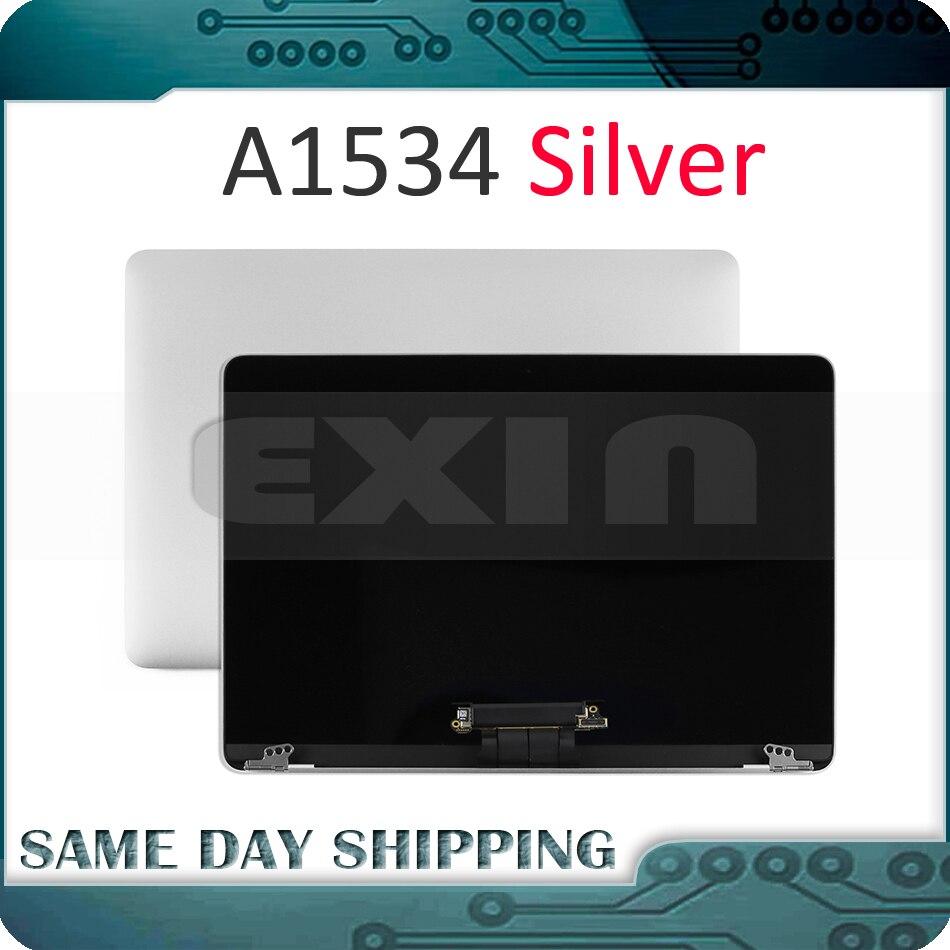 Couleur argent originale A1534 écran LCD pour Apple Macbook Retina 12 A1534 LCD écran affichage LED assemblage complet 2015 2016 2017