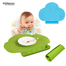 Waterproof silicone Baby bib Table Mat Silicone Pad Infant Diner Portable Placemat for kids Baby Feeding-baby place mat