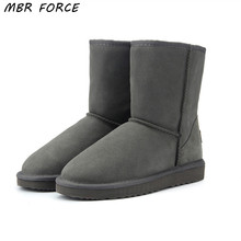 MBR FORCE High Quality Genuine Cowhide Leather  Australia Classic 100% Wool snow boots Women Boots Warm winter shoes for women mbr force high quality women natural real fox fur snow boots genuine leather fashion women boots warm female winter shoes ship