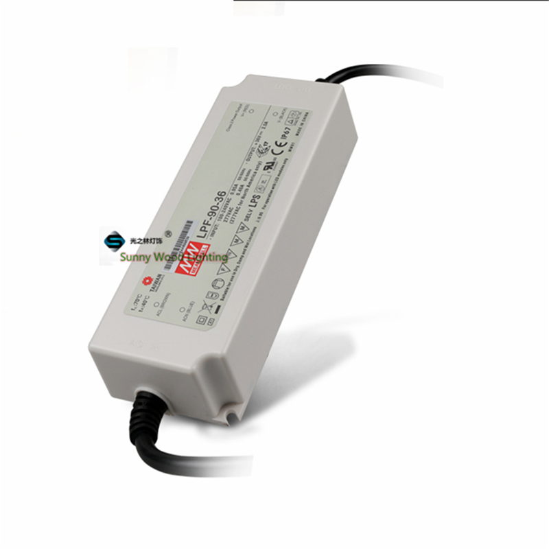 100-240Vac to 21.6-36VDC ,90W ,2500ma constant current IP67 UL power supply ,Led light,signboard driver ,LPF-90-36 90w led driver dc40v 2 7a high power led driver for flood light street light ip65 constant current drive power supply