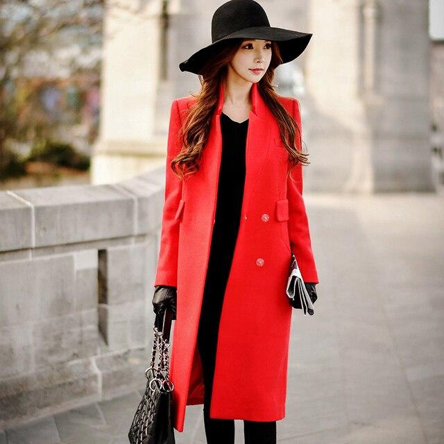 Dabuwawa зима два цвета шерстяные длинное пальто