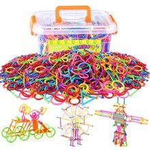500pcs Assembled Building Blocks Magic Wand Smart Stick Magnetic Designer Construction Set Educational Toys For Kids