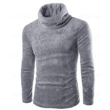 Laipelar Winter Thick Warm Sweater Men Turtleneck Slim Fit Pullover Velvet Knitwear Double Collar Pullovers Male Outwear Top