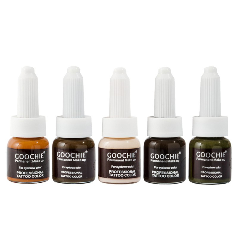 1 pc GOOCHIE Microblading pigment Permanent Makeup eyebrow Pigment 6color tattoo ink eyebrow pigment for tattoo machine ink hot sale 5pcs mirco permanent makeup tattoo pigment cream for eyebrow makeup 12 colors free shipping goochie quality