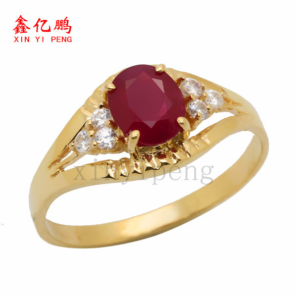 18 k gold, platinum natural ruby ring women give valuable color more than 1 carat gem The real thing to send mother 3