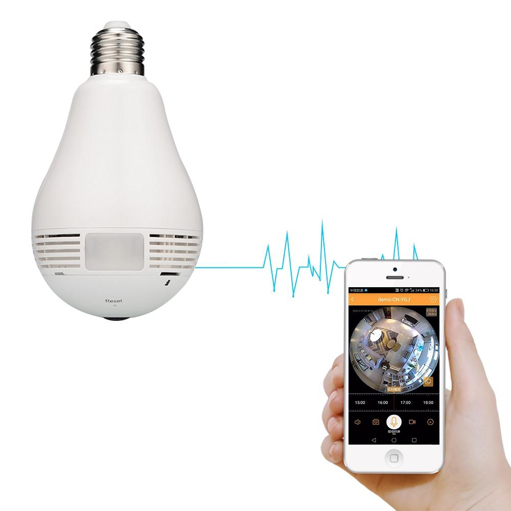 """Lemputė """"IP"""" lemputė, 360 laipsnių vaizdo stebėjimas Vaizdo - Sauga ir saugumas - Nuotrauka 2"""