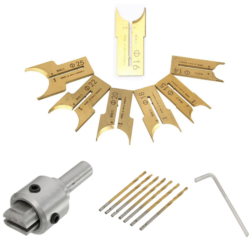 16pcs Wooden Bead Drill Bit Carbide Ball Blade Molding Tool Beads Router Bits for Woodworking Milling Cutter 14-25mm 6 25mm 11 pcs tungsten alloy steel milling cutter woodworking router bit buddha beads ball knife beads tools wooden beads drill