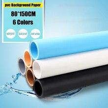 80*150 CM estúdio de fotografia de fundo Material de PVC 6 cores pode escolher Fundo Anti-rugas Fundo Fotografia Equipamentos
