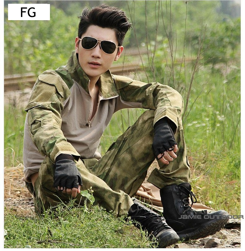 Gen2 Tactical Uniform Outdoor Hunting Combat Paintball Military Wargame Clothing Suit Shirt Pants with Knee Elbow Pads black tactical bdu uniform field shirt and pants clothes for hunting and finshing men outdoor paintball military wargame suit