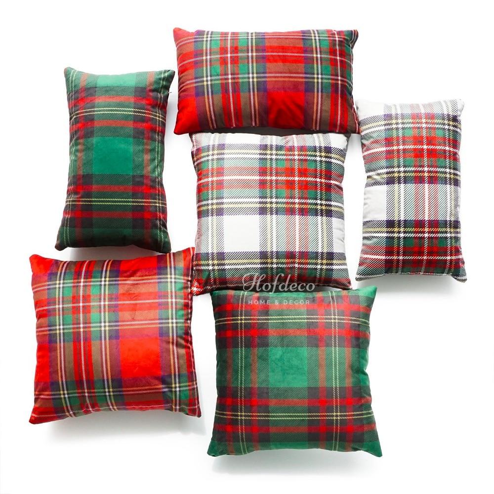Christmas Decorative Throw Lumbar Pillow Case Royal Stewart Classic Moran font b Tartan b font Scottish