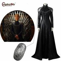 Game of Thrones Copslay Cersei Lannister Dress Queen Black Exclusive Costume Women Costumes For Halloween Outfit Custom Made J5