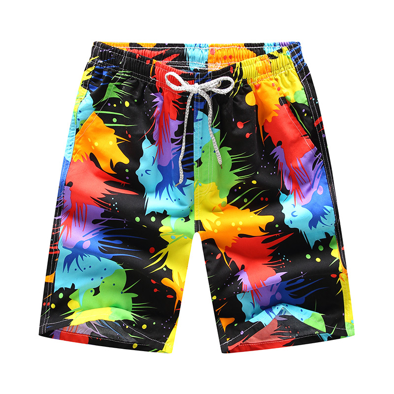 2020 Men Board Shorts Summer Swimwear Beach Shorts Casual Print Quick Dry Shorts Swimshorts Men Shorts Dragon Ball Breathable