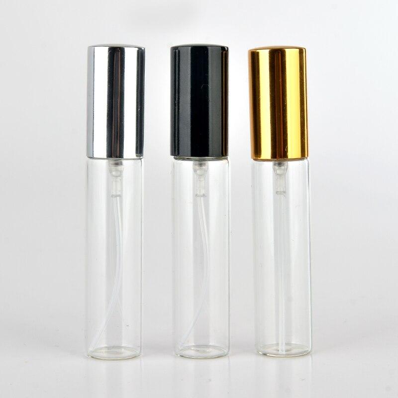 Wholesale 100 Pieces/Lot 5ml 10ml Portable Glass Refillable Perfume Bottle With Aluminum Atomizer Empty Parfum Case For Traveler