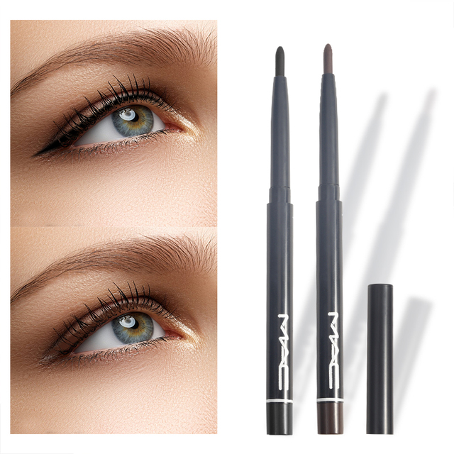 BearPaw Professional Women Waterproof Retractable Rotary Gel Cream Black Brown Eyeliner Pen Eye Liner Pencil Makeup Cosmetic 1
