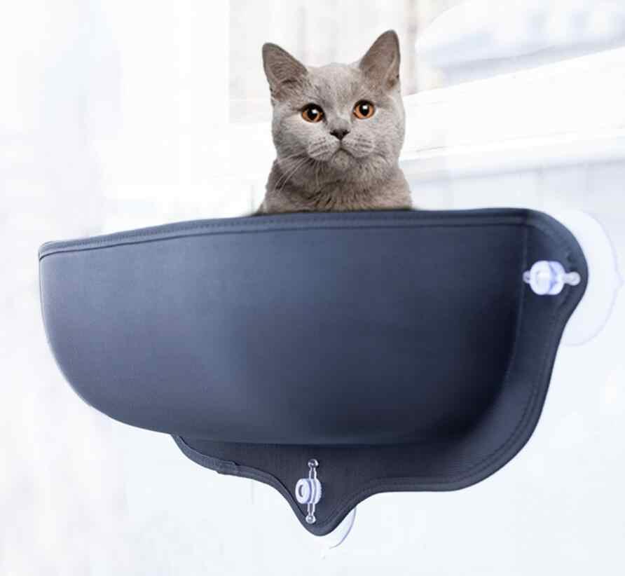 Kedi hamak yatak pencere Pod şezlong vantuz sıcak yatak için Pet kedi dinlenme evi yumuşak ve rahat Ferret kafes