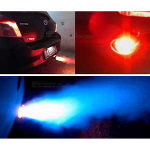 Image 5 - צינור נירוסטה צעיף רכב האוניברסלי מכשיר ספריי תרסיס להבה פליטה פליטה שונה גרון זנב אור מאפנן אור