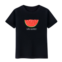 2017 New Women's Summer Watermelon T-Shirt Short Sleeve O-Neck Cotton Top TeeFemmes camisa chemise camicia Mujer Clothes