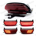 Red Motorcycle Accessories Tri-Bar LED Fender Turn Tail Light License Plate Bracket For Harley Softail 2006-2013 2014 2015 2016