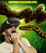 VRกล่องความจริงเสมือนแว่นตา3Dกระดาษแข็งภาพยนตร์เกมสำหรับSamsungสำหรับiPhone Oct20