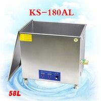 1 шт. 58L KS 180AL 1080 Вт нержавеющей стали Машина для мойки ультразвуковая стиральная машина для чистки ювелирные очки часы