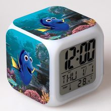 Neue Film Finding Nemo Kinder Wecker wekker digital wecker wake up licht reveil tisch uhr Led reloj despertador(China)