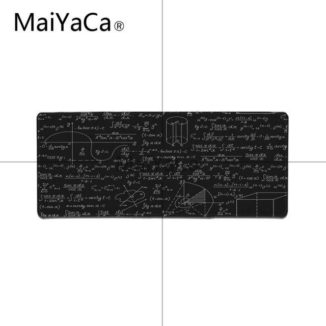 MaiYaCa Boy Gift Pad Geometric formula mouse pad gamer play mats Large Gaming Mouse Pad Lockedge Mouse Mat Keyboard Pad