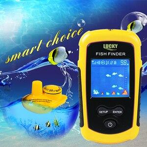 Lucky 120 метров беспроводной диапазон работы портативный гидролокатор сенсор более глубокий рыболокатор FFCW1108-1 цветной ЖК-дисплей для рыбалки
