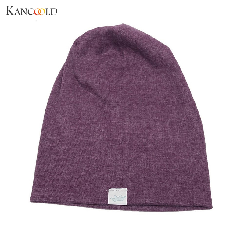 2017 Spring Unisex Hat Babywear Boy Girl Solid Cotton   Skullies   Smooth Warm Children Hat Cap   Beanies   Sombrero For Kids De12