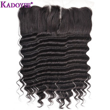 KADOYEE 100% Human Hair Loose Wave Lace Frontal 13X4 Free Middle Three Part with Baby Hair Remy Hair Lace Frontal 8-20 Inch siv hair medium body wave middle part lace frontal human hair wig