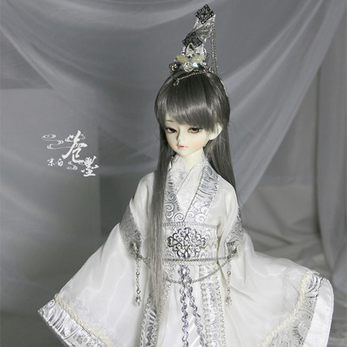 1 4 BJD Doll china ancient cos clothing white