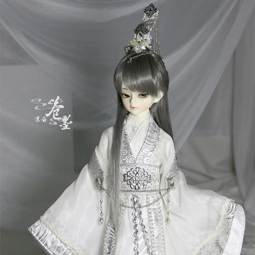 1/4 BJD Doll china ancient cos clothing white кукла bjd 1 3 bjd cos